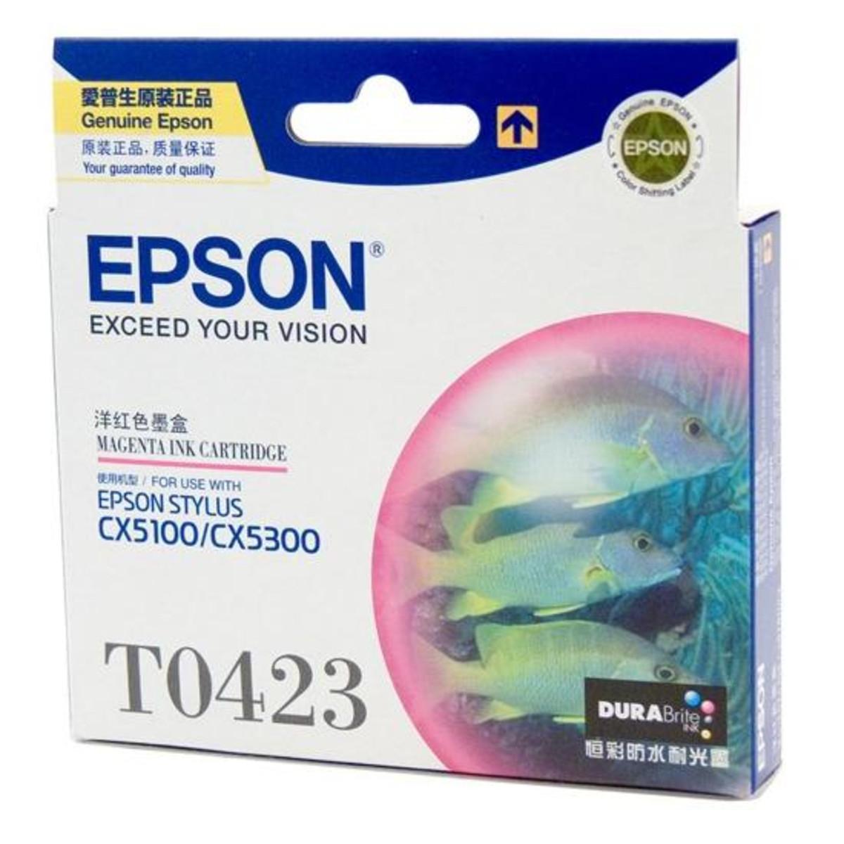 Epson T042390 Magenta Ink Cartridge - Exp 2013