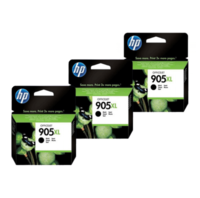 HP 905XL Ink Cartridge Value Pack - Includes: [3 x Black]