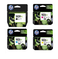 HP 909XL Ink Cartridge Value Pack - Includes: [1 x Black, Cyan, Magenta, Yellow]