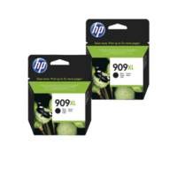 HP No. 909XL High Yield Black Twin Pack