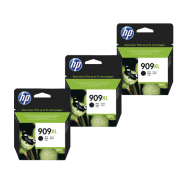 HP 909XL Ink Cartridge Value Pack - Includes: [3 x Black]