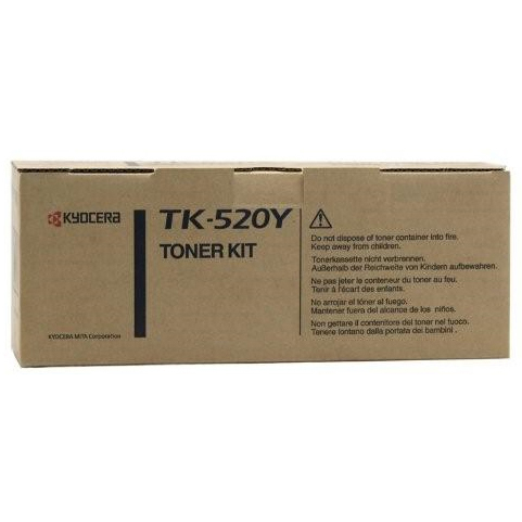 Kyocera TK520 Yellow Toner Cartridge (Original)