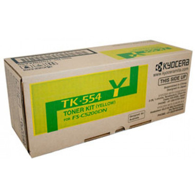 Kyocera TK554 Yellow Toner Cartridge (Original)