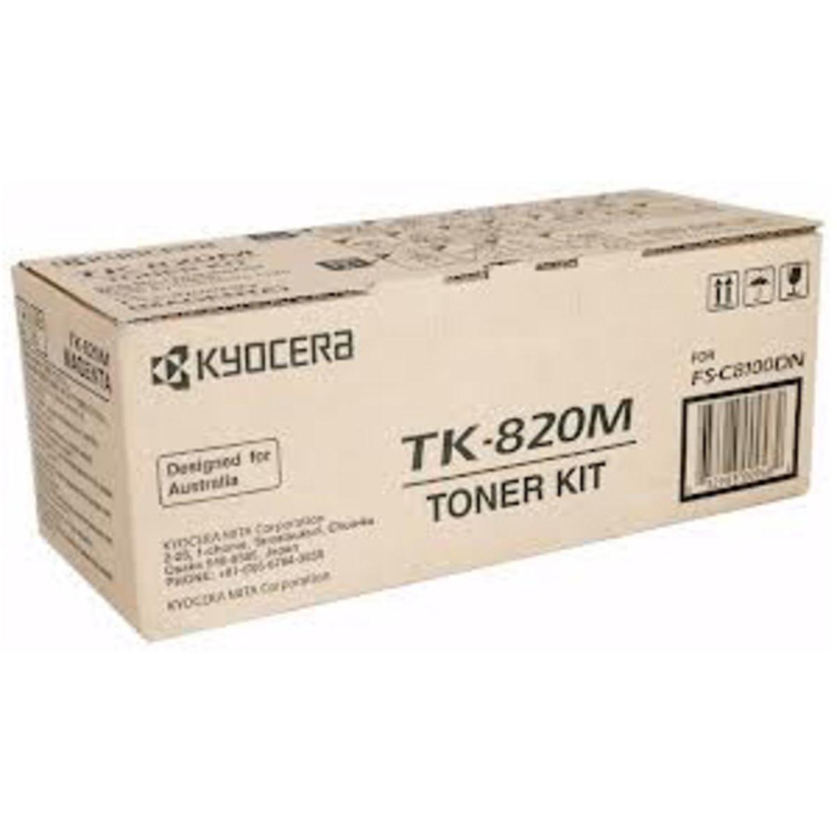 Kyocera TK-820M Magenta Toner Cartridge