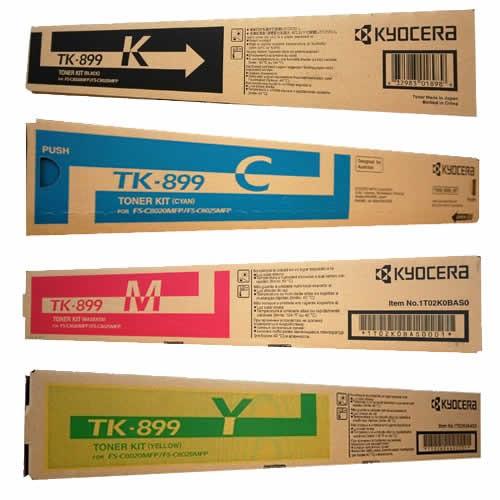 Kyocera Toner Cartridges Value Pack - Includes: [1 x Black, Cyan, Magenta, Yellow]