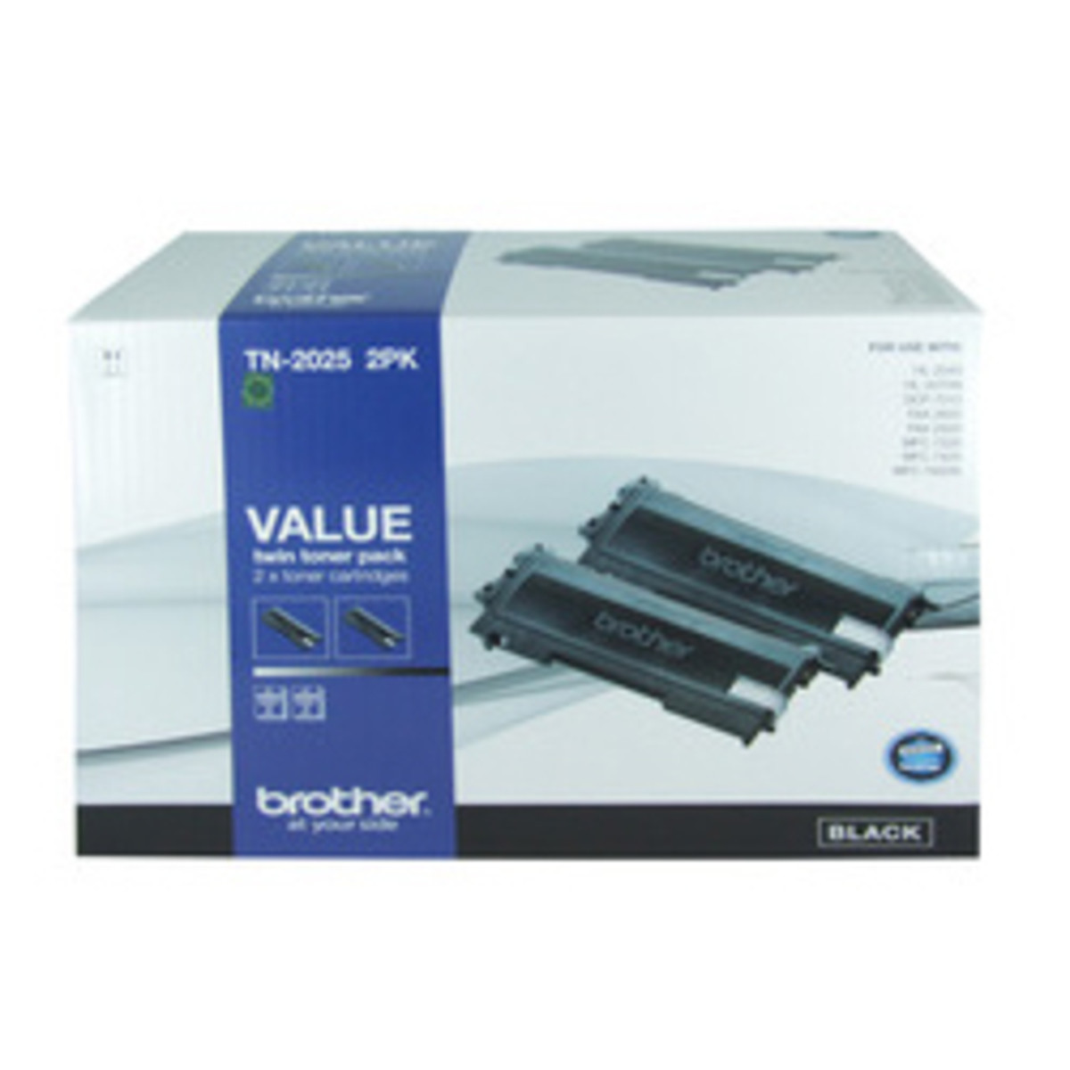 Brother TN-2025 Black Toner Cartridges - Twin Pack