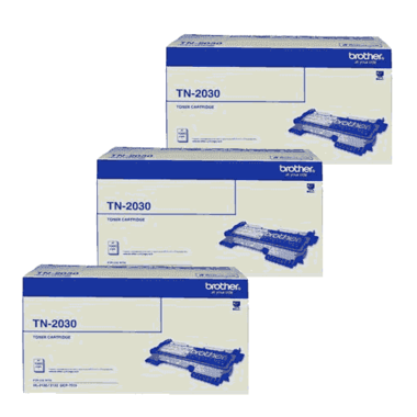 Brother TN-2030 Bundle Pack, Includes 3 x Black