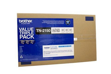 Brother TN-2150 Black Toner Cartridges - 3 Pack