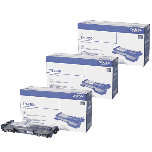 Brother TN2250 Toner Cartridges Value Pack - Includes: [3 x Black]