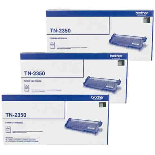 Brother TN2350 Toner Cartridges Value Pack - Includes: [3 x Black]