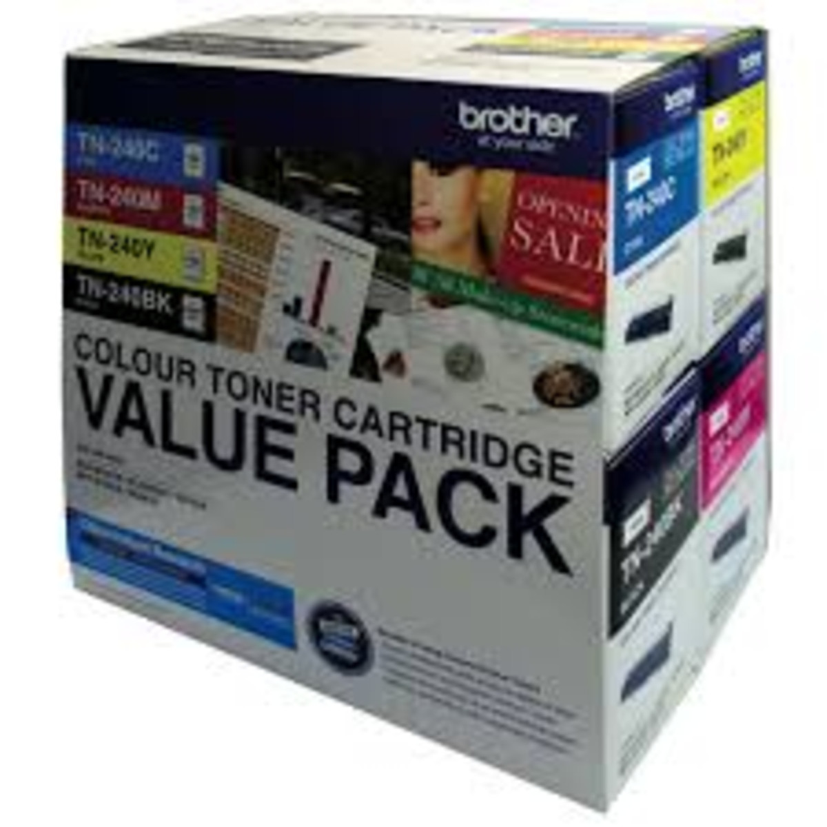 Brother TN-240 Colour Toner Cartridges - Value Pack