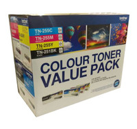 Brother TN251BK/255CLPK Colour Toner Cartridges - Value Pack