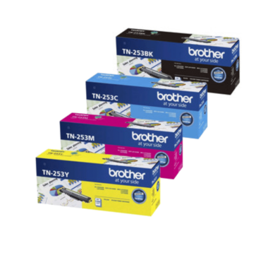Brother TN253 Toner Cartridges Value Pack - Includes: [1 x Black, Cyan, Magenta, Yellow]