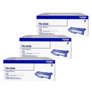 Brother TN3340 Toner Cartridges Value Pack - Includes: [3 x Black]