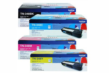 Brother TN348 Toner Cartridges Value Pack - Includes: [1 x Black, Cyan, Magenta, Yellow]