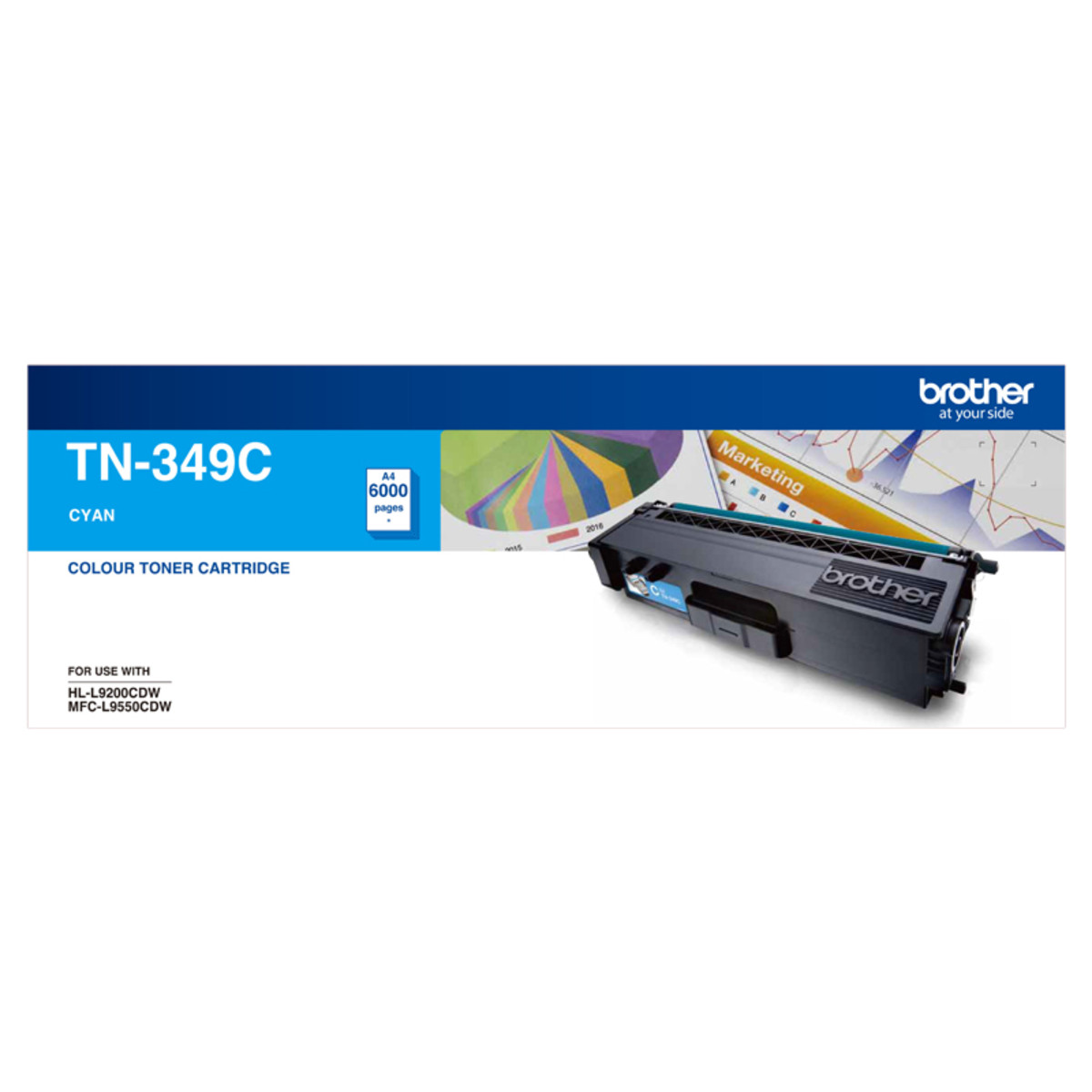 Brother TN-349C Cyan Toner Cartridge