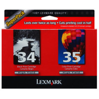 Lexmark 34 / 35 Black and Colour Ink Cartridges - Multi Pack