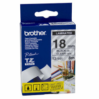 Brother TZ-141 18mm Black on Clear Tape