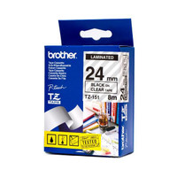 Brother TZ-151 24mm Black on Clear Tape