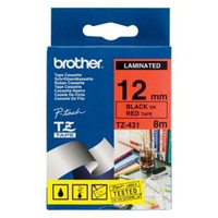 Brother TZe-431 12mm Black on Red Tape