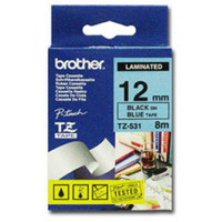 Brother TZ-531 12mm Black on Blue Tape