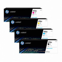 HP 416X Toner Cartridges Value Pack - Includes: [1 x Black, Cyan, Magenta, Yellow]