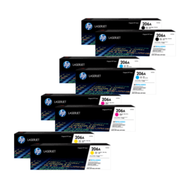 HP 206A Toner Cartridges Value Pack - Includes: [2 x Black, Cyan, Magenta, Yellow]