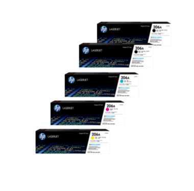 HP 206A Toner Cartridges Value Pack - Includes: [2 x Black, 1 x Cyan, Magenta, Yellow]