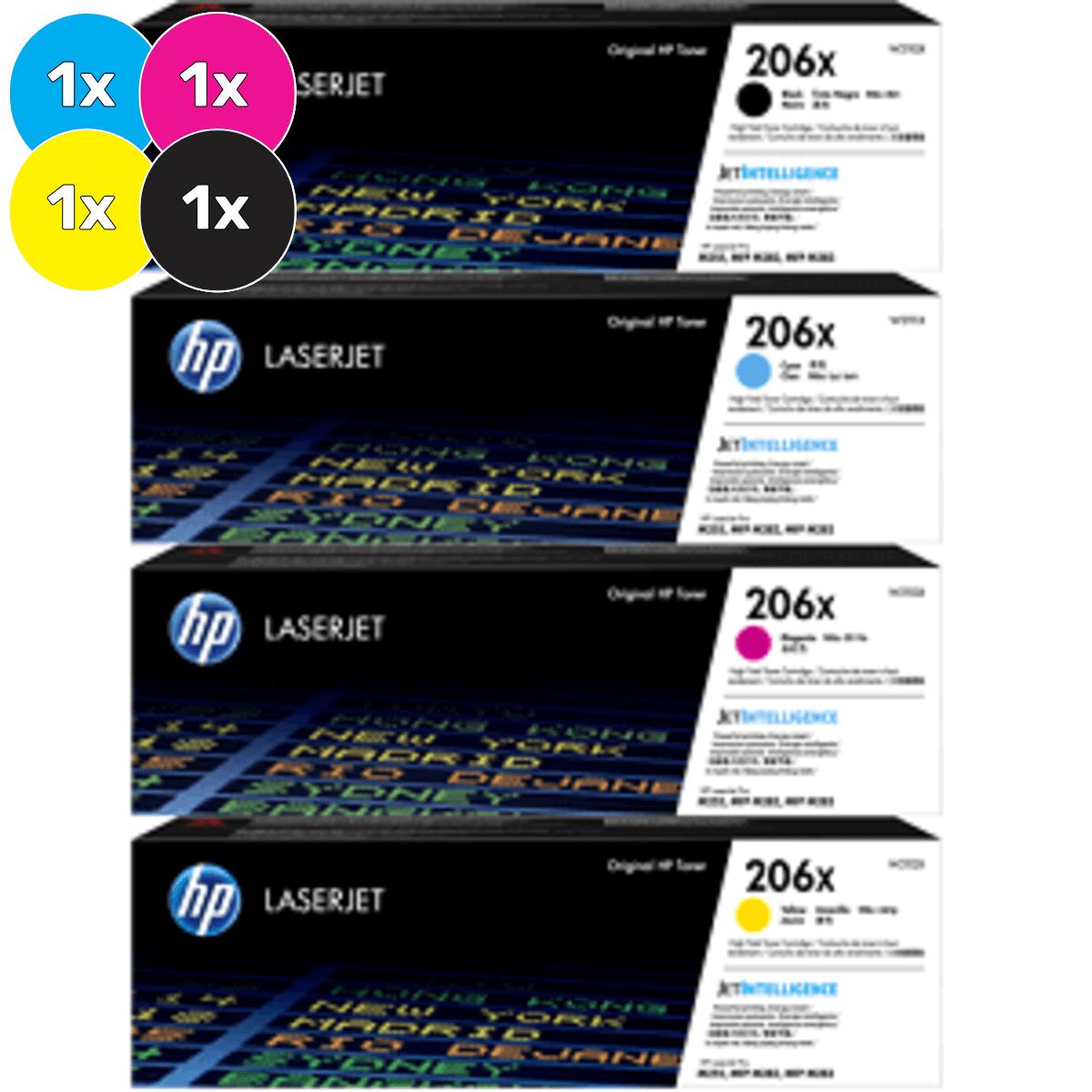 HP 206X Toner Cartridges Value Pack - Includes: [1 x Black, Cyan, Magenta, Yellow]