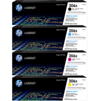 HP 206X (W2110X) Colour Toner Bundle Pack