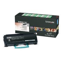 Lexmark X463A11G Black Prebate Toner Cartridge