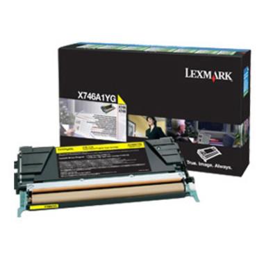 Lexmark X746A1YG Yellow Toner Cartridge