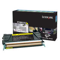 Lexmark X748H1YG Yellow Toner Cartridge