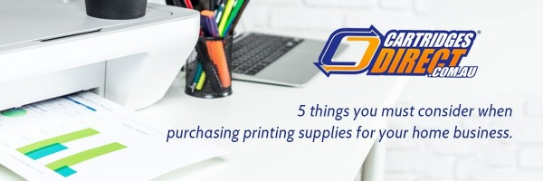5 things you must consider when purchasing printing supplies for your home business.